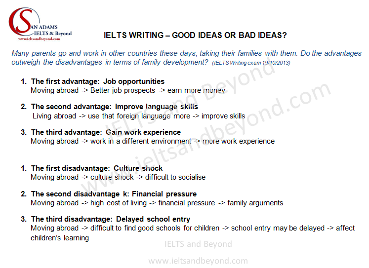 ielts writing - avoid being off topic 2